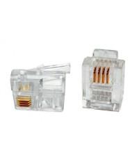 6P4C 3 Micron Modüler Plug (100 lü paket)